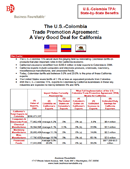 U.S.-Colombia Trade Promotion Agreement State Studies (2007)