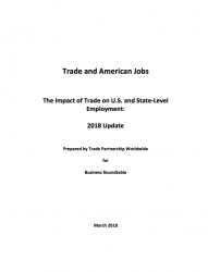 Trade and American Jobs: The Impact of Trade on U.S. and State-Level Employment Update (2018)