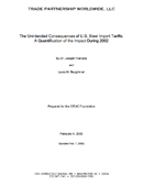 The Unintended Consequences of U.S. Steel Import Tariffs: A Quantification of the Impact During 2002 (2003)