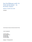 Non-Tariff Measures in EU-US Trade and Investment – An Economic Analysis (2009)