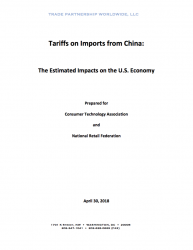 Tariffs on Imports from China: The Estimated Impacts on the U.S. Economy (2018)