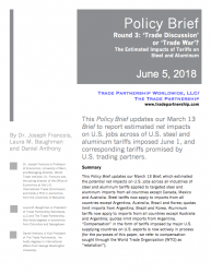Round 3: 'Trade Discussion' or 'Trade War'? The Estimated Impacts of Tariffs on Steel and Aluminum
