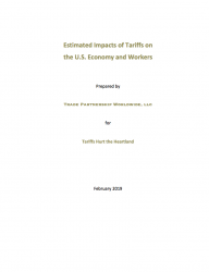 Estimated Impacts of Tariffs on the U.S. Economy and Workers (2019)