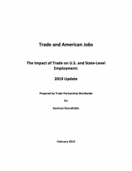 Trade and American Jobs: The Impact of Trade on U.S. and State-Level Employment Update (2019)